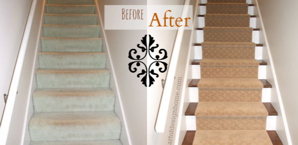 staircase before & after