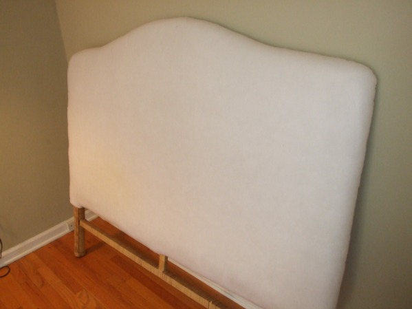 wrapping a headboard in batting