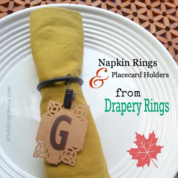 Napkin Rings & Placecard Holders from Drapery Rings